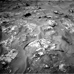 Nasa's Mars rover Curiosity acquired this image using its Left Navigation Camera on Sol 3192, at drive 96, site number 90