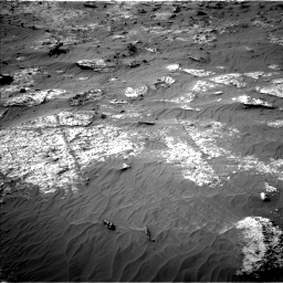 Nasa's Mars rover Curiosity acquired this image using its Left Navigation Camera on Sol 3192, at drive 162, site number 90