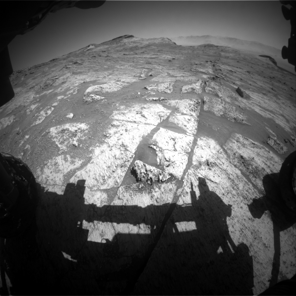 Nasa's Mars rover Curiosity acquired this image using its Front Hazard Avoidance Camera (Front Hazcam) on Sol 3193, at drive 232, site number 90