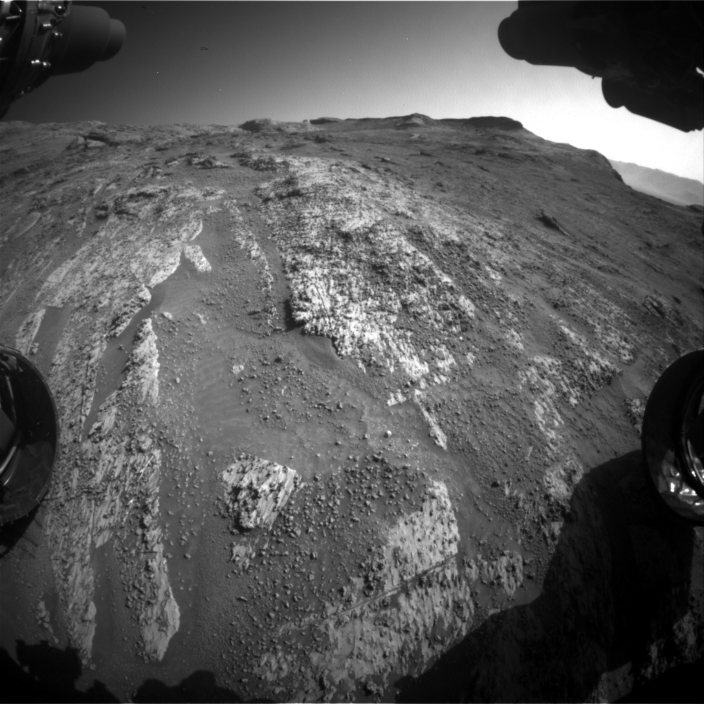 Nasa's Mars rover Curiosity acquired this image using its Front Hazard Avoidance Camera (Front Hazcam) on Sol 3195, at drive 460, site number 90