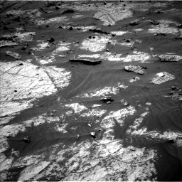 Nasa's Mars rover Curiosity acquired this image using its Left Navigation Camera on Sol 3195, at drive 238, site number 90