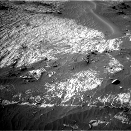 Nasa's Mars rover Curiosity acquired this image using its Left Navigation Camera on Sol 3195, at drive 376, site number 90