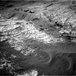 Nasa's Mars rover Curiosity acquired this image using its Left Navigation Camera on Sol 3195, at drive 406, site number 90