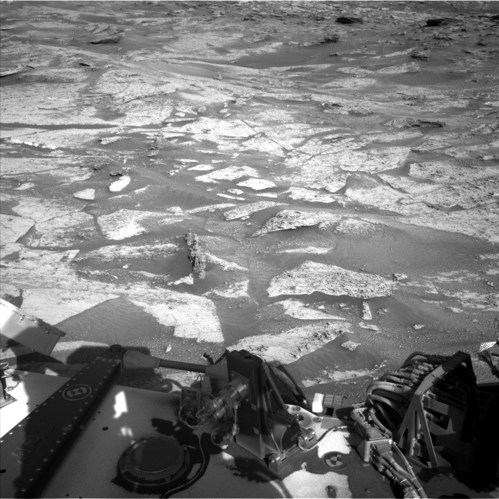Nasa's Mars rover Curiosity acquired this image using its Left Navigation Camera on Sol 3195, at drive 460, site number 90