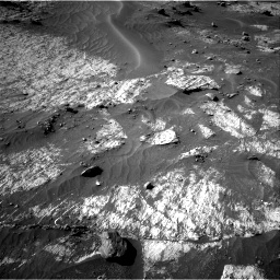 Nasa's Mars rover Curiosity acquired this image using its Right Navigation Camera on Sol 3195, at drive 370, site number 90