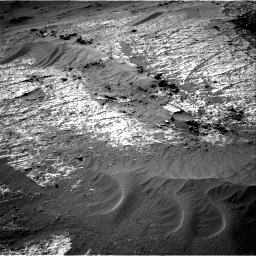 Nasa's Mars rover Curiosity acquired this image using its Right Navigation Camera on Sol 3195, at drive 406, site number 90