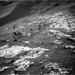 Nasa's Mars rover Curiosity acquired this image using its Right Navigation Camera on Sol 3195, at drive 436, site number 90