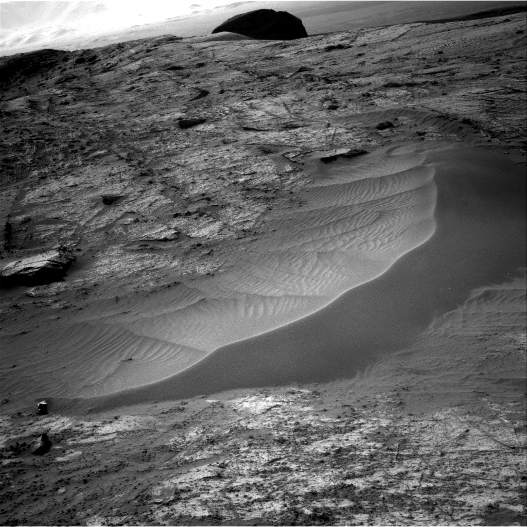 Nasa's Mars rover Curiosity acquired this image using its Right Navigation Camera on Sol 3195, at drive 460, site number 90