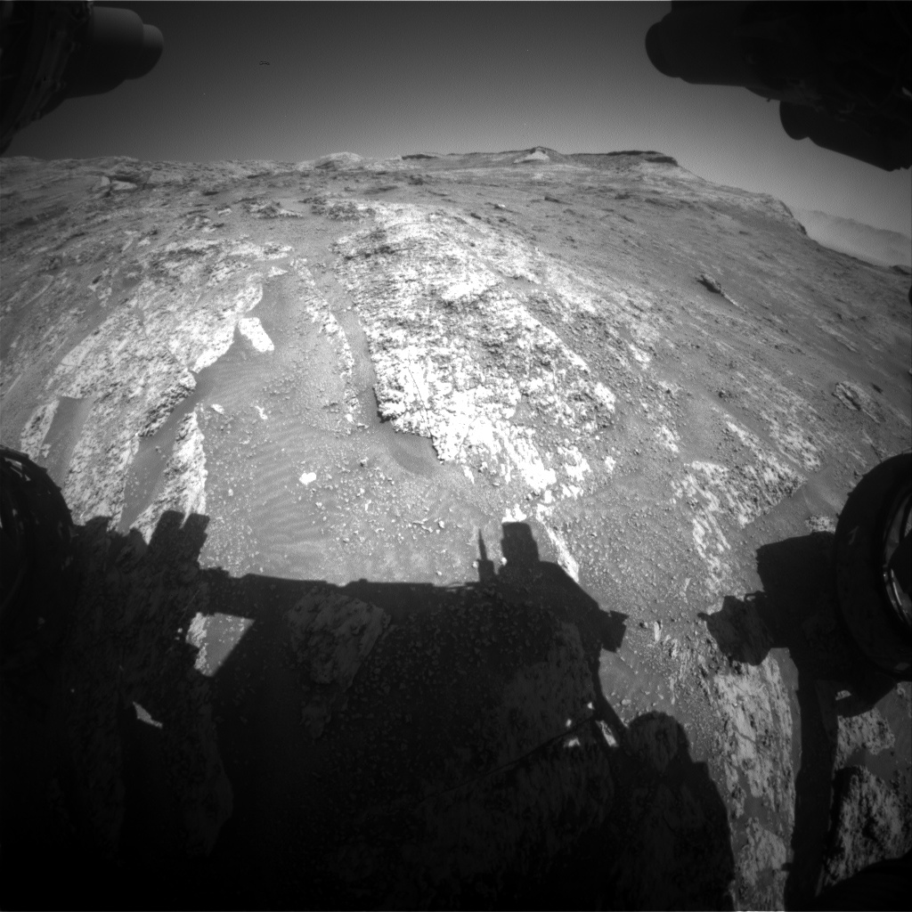 Nasa's Mars rover Curiosity acquired this image using its Front Hazard Avoidance Camera (Front Hazcam) on Sol 3196, at drive 460, site number 90