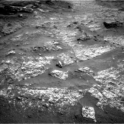 Nasa's Mars rover Curiosity acquired this image using its Left Navigation Camera on Sol 3197, at drive 574, site number 90