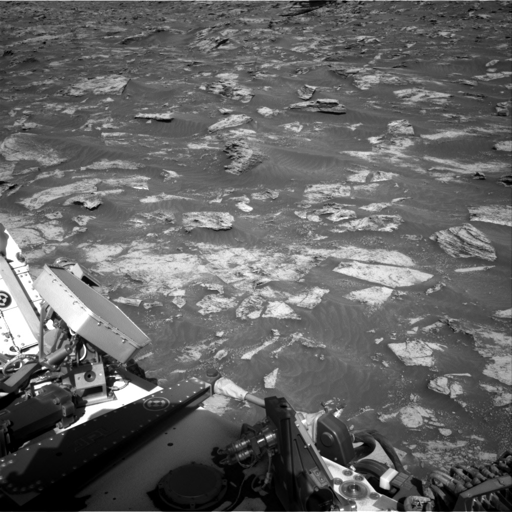 Nasa's Mars rover Curiosity acquired this image using its Right Navigation Camera on Sol 3199, at drive 892, site number 90