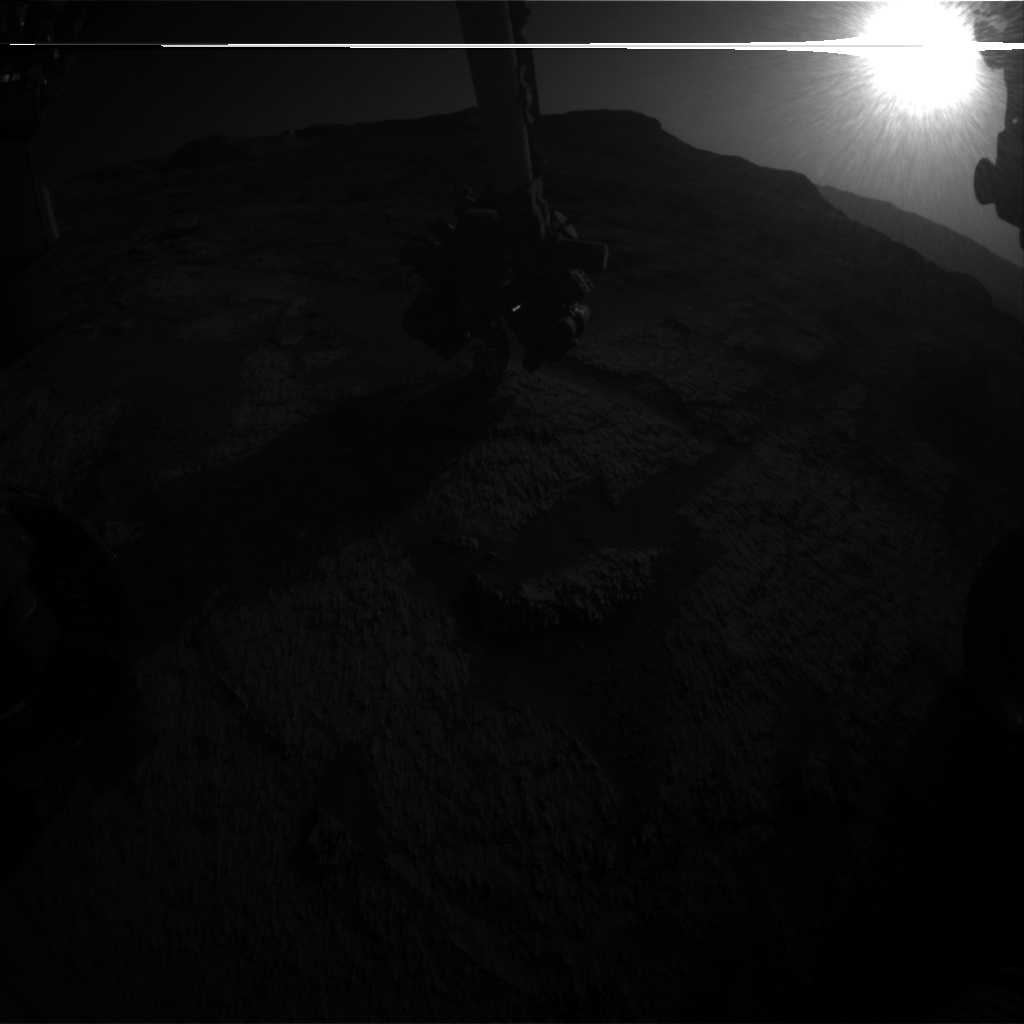 Nasa's Mars rover Curiosity acquired this image using its Front Hazard Avoidance Camera (Front Hazcam) on Sol 3201, at drive 892, site number 90