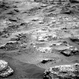 Nasa's Mars rover Curiosity acquired this image using its Left Navigation Camera on Sol 3202, at drive 958, site number 90