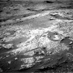 Nasa's Mars rover Curiosity acquired this image using its Left Navigation Camera on Sol 3203, at drive 1156, site number 90