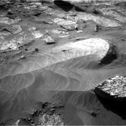 Nasa's Mars rover Curiosity acquired this image using its Left Navigation Camera on Sol 3203, at drive 1204, site number 90