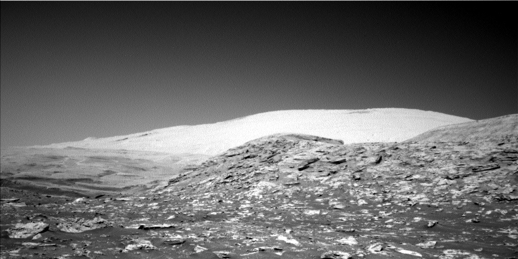 Nasa's Mars rover Curiosity acquired this image using its Left Navigation Camera on Sol 3203, at drive 1348, site number 90