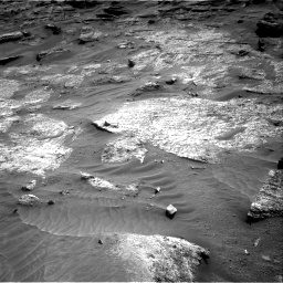 Nasa's Mars rover Curiosity acquired this image using its Right Navigation Camera on Sol 3203, at drive 1240, site number 90