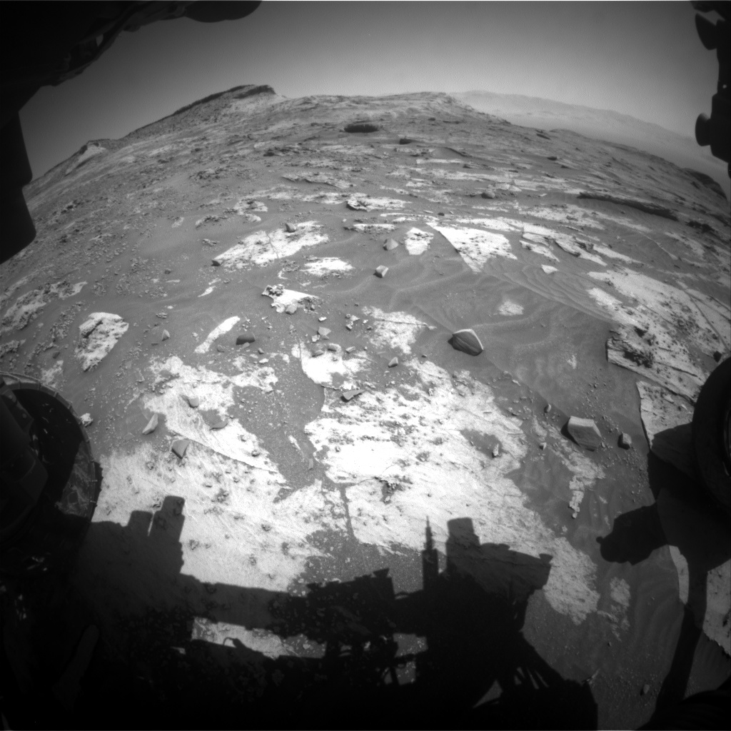 Nasa's Mars rover Curiosity acquired this image using its Front Hazard Avoidance Camera (Front Hazcam) on Sol 3207, at drive 1732, site number 90