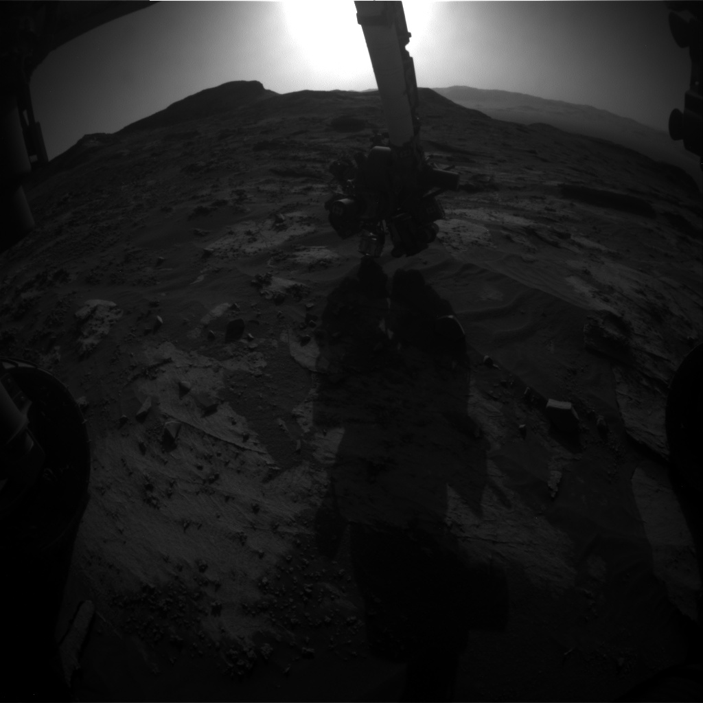 Nasa's Mars rover Curiosity acquired this image using its Front Hazard Avoidance Camera (Front Hazcam) on Sol 3208, at drive 1732, site number 90