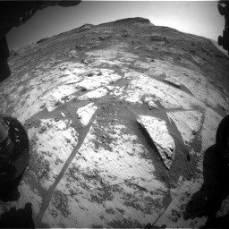 Nasa's Mars rover Curiosity acquired this image using its Front Hazard Avoidance Camera (Front Hazcam) on Sol 3209, at drive 1852, site number 90