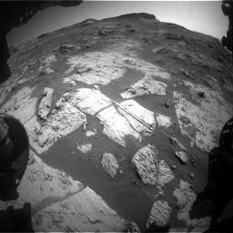 Nasa's Mars rover Curiosity acquired this image using its Front Hazard Avoidance Camera (Front Hazcam) on Sol 3209, at drive 1864, site number 90