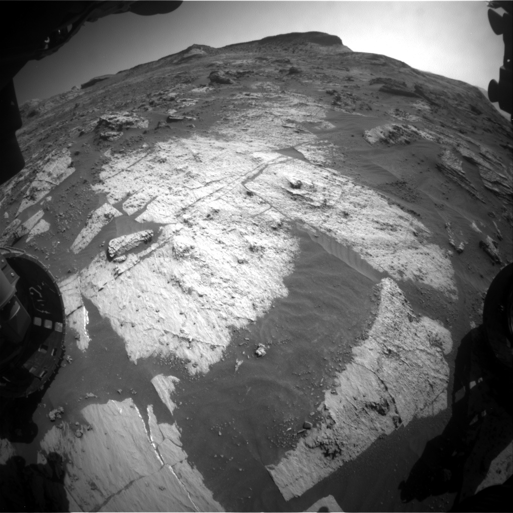 Nasa's Mars rover Curiosity acquired this image using its Front Hazard Avoidance Camera (Front Hazcam) on Sol 3209, at drive 1870, site number 90