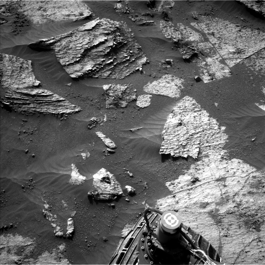 Nasa's Mars rover Curiosity acquired this image using its Left Navigation Camera on Sol 3209, at drive 1870, site number 90