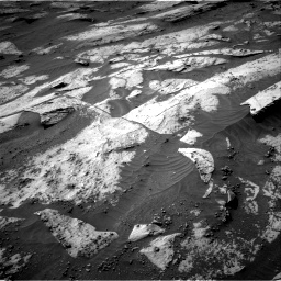 Nasa's Mars rover Curiosity acquired this image using its Right Navigation Camera on Sol 3209, at drive 1768, site number 90