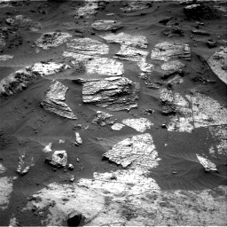 Nasa's Mars rover Curiosity acquired this image using its Right Navigation Camera on Sol 3209, at drive 1864, site number 90
