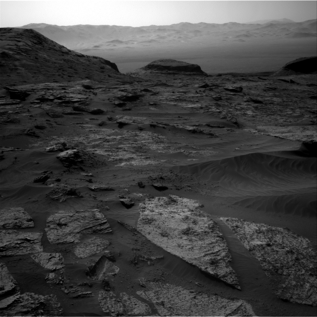 Nasa's Mars rover Curiosity acquired this image using its Right Navigation Camera on Sol 3209, at drive 1870, site number 90