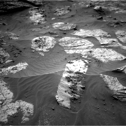 Nasa's Mars rover Curiosity acquired this image using its Left Navigation Camera on Sol 3210, at drive 1900, site number 90