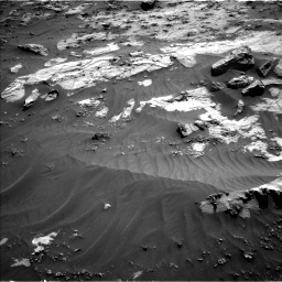 Nasa's Mars rover Curiosity acquired this image using its Left Navigation Camera on Sol 3212, at drive 2348, site number 90
