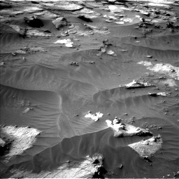 Nasa's Mars rover Curiosity acquired this image using its Left Navigation Camera on Sol 3212, at drive 2582, site number 90