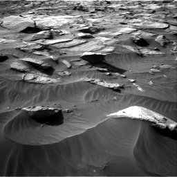 Nasa's Mars rover Curiosity acquired this image using its Right Navigation Camera on Sol 3212, at drive 2606, site number 90