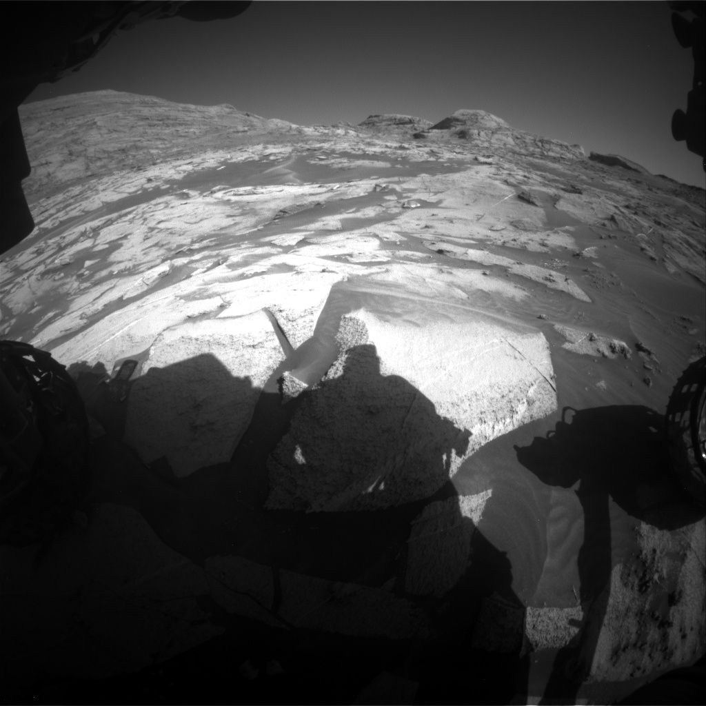Nasa's Mars rover Curiosity acquired this image using its Front Hazard Avoidance Camera (Front Hazcam) on Sol 3216, at drive 2990, site number 90