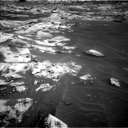 Nasa's Mars rover Curiosity acquired this image using its Left Navigation Camera on Sol 3216, at drive 2798, site number 90