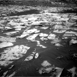 Nasa's Mars rover Curiosity acquired this image using its Right Navigation Camera on Sol 3216, at drive 2714, site number 90