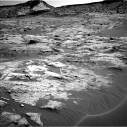 Nasa's Mars rover Curiosity acquired this image using its Left Navigation Camera on Sol 3217, at drive 3002, site number 90