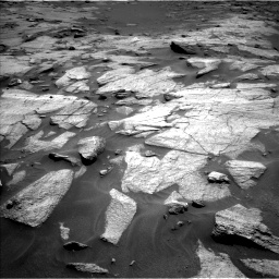 Nasa's Mars rover Curiosity acquired this image using its Left Navigation Camera on Sol 3217, at drive 3080, site number 90