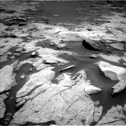 Nasa's Mars rover Curiosity acquired this image using its Left Navigation Camera on Sol 3217, at drive 3104, site number 90