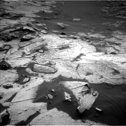 Nasa's Mars rover Curiosity acquired this image using its Left Navigation Camera on Sol 3217, at drive 3128, site number 90