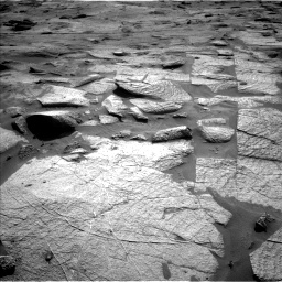 Nasa's Mars rover Curiosity acquired this image using its Left Navigation Camera on Sol 3217, at drive 3332, site number 90