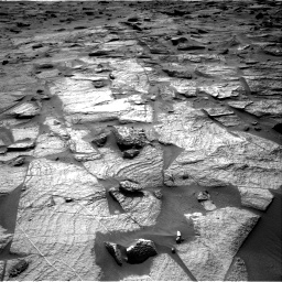 Nasa's Mars rover Curiosity acquired this image using its Right Navigation Camera on Sol 3217, at drive 3368, site number 90
