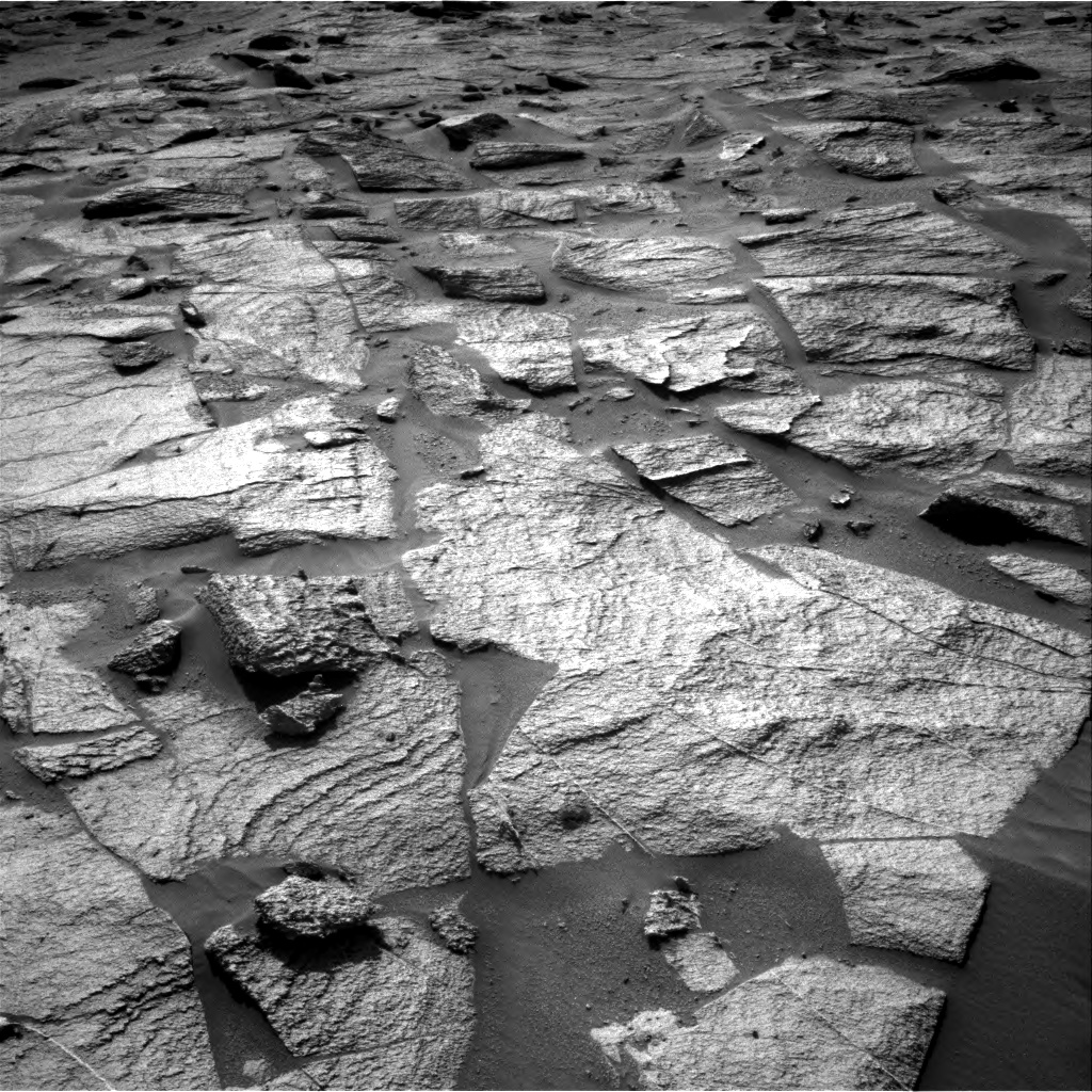Nasa's Mars rover Curiosity acquired this image using its Right Navigation Camera on Sol 3217, at drive 3374, site number 90
