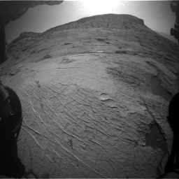 Nasa's Mars rover Curiosity acquired this image using its Front Hazard Avoidance Camera (Front Hazcam) on Sol 3219, at drive 150, site number 91