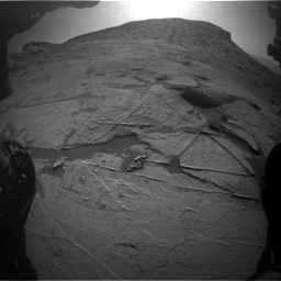 Nasa's Mars rover Curiosity acquired this image using its Front Hazard Avoidance Camera (Front Hazcam) on Sol 3219, at drive 198, site number 91