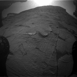 Nasa's Mars rover Curiosity acquired this image using its Front Hazard Avoidance Camera (Front Hazcam) on Sol 3219, at drive 234, site number 91
