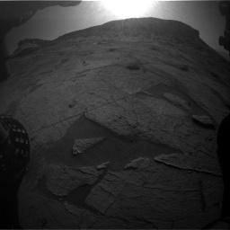 Nasa's Mars rover Curiosity acquired this image using its Front Hazard Avoidance Camera (Front Hazcam) on Sol 3219, at drive 252, site number 91