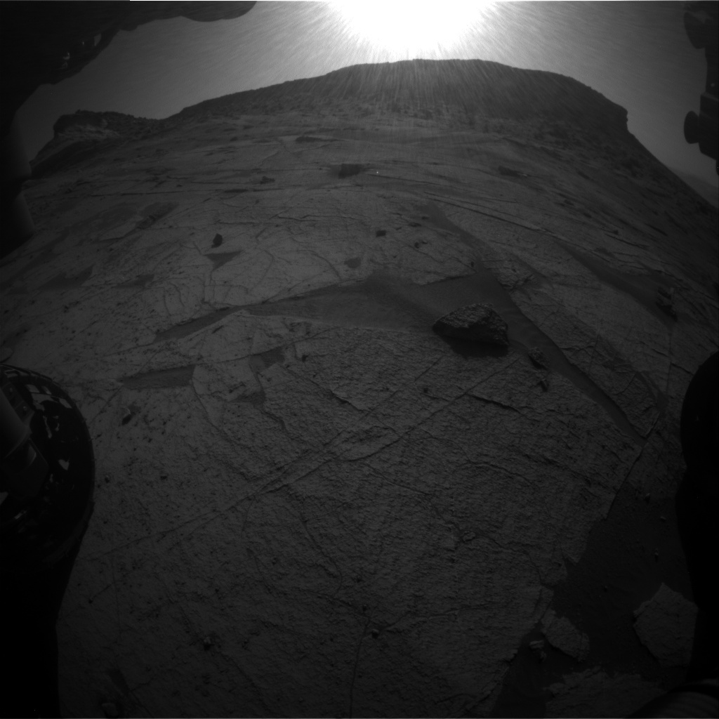 Nasa's Mars rover Curiosity acquired this image using its Front Hazard Avoidance Camera (Front Hazcam) on Sol 3219, at drive 258, site number 91