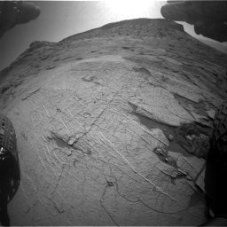 Nasa's Mars rover Curiosity acquired this image using its Front Hazard Avoidance Camera (Front Hazcam) on Sol 3219, at drive 132, site number 91